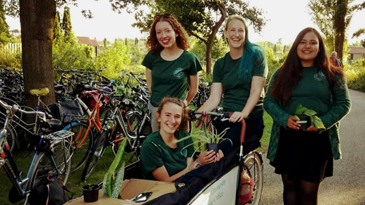 A student transport bike is a good sustainability project idea