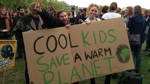 A sustainable student lifestyle includes political action