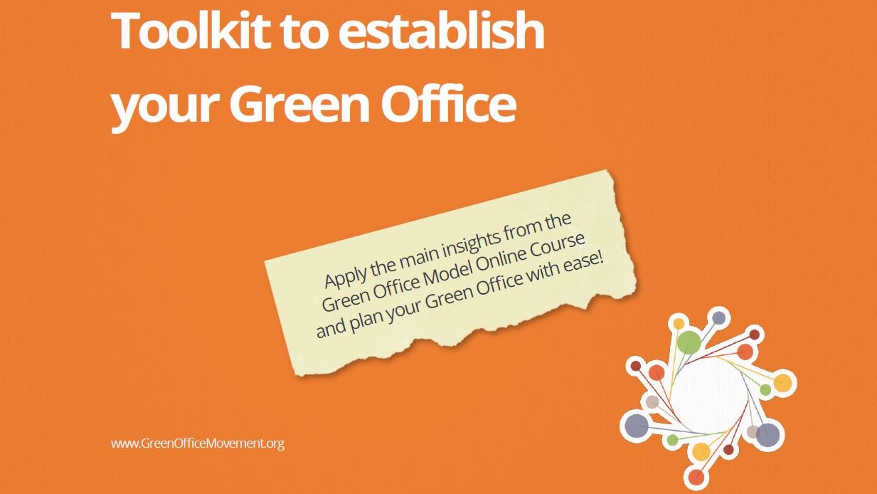 Toolkit to establish your Green Office