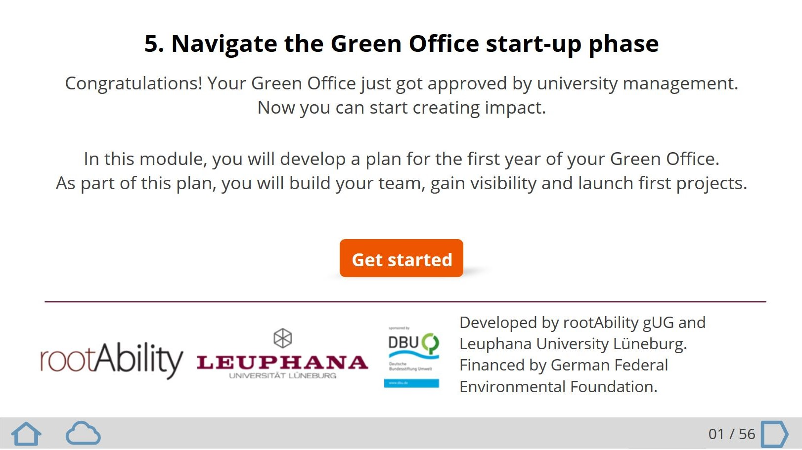 Online course about running a Green Office, once it's approved